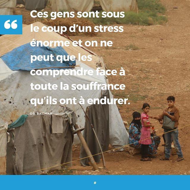 """""""Ces gens sont sous le coup d'un stress énorme et on ne peut que les comprendre face à toute la souffrance qu'ils ont à endurer."""" Dr Bachar, soignant de l'UOSSM dans le camp Qah en #Syrie , évoque le sort des déplacés internes qui ont fuit la guerre.  Rejoignez notre campagne et ensemble, mobilisons-nous pour l'accès aux soins et à la santé dans les camps de déplacés en Syrie ! Signez notre pétition 🖊http://bit.ly/SignezLaPetition"""