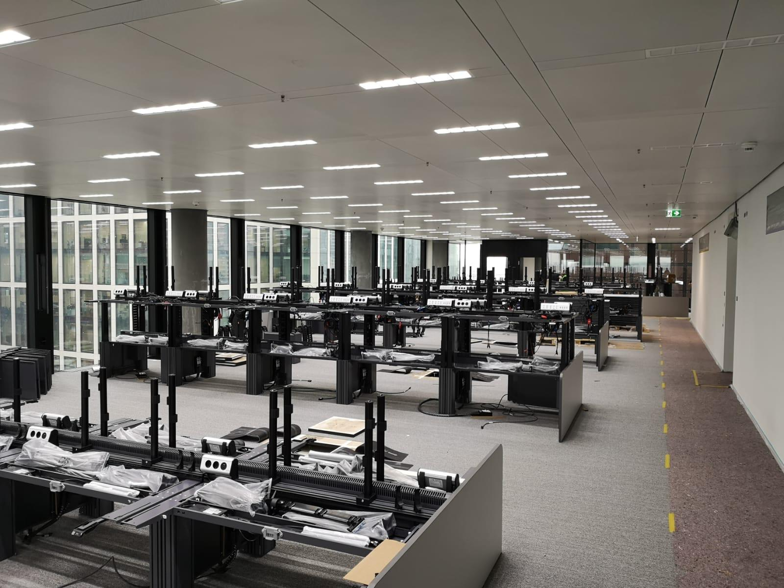 Rows of dT11 Trading Desks