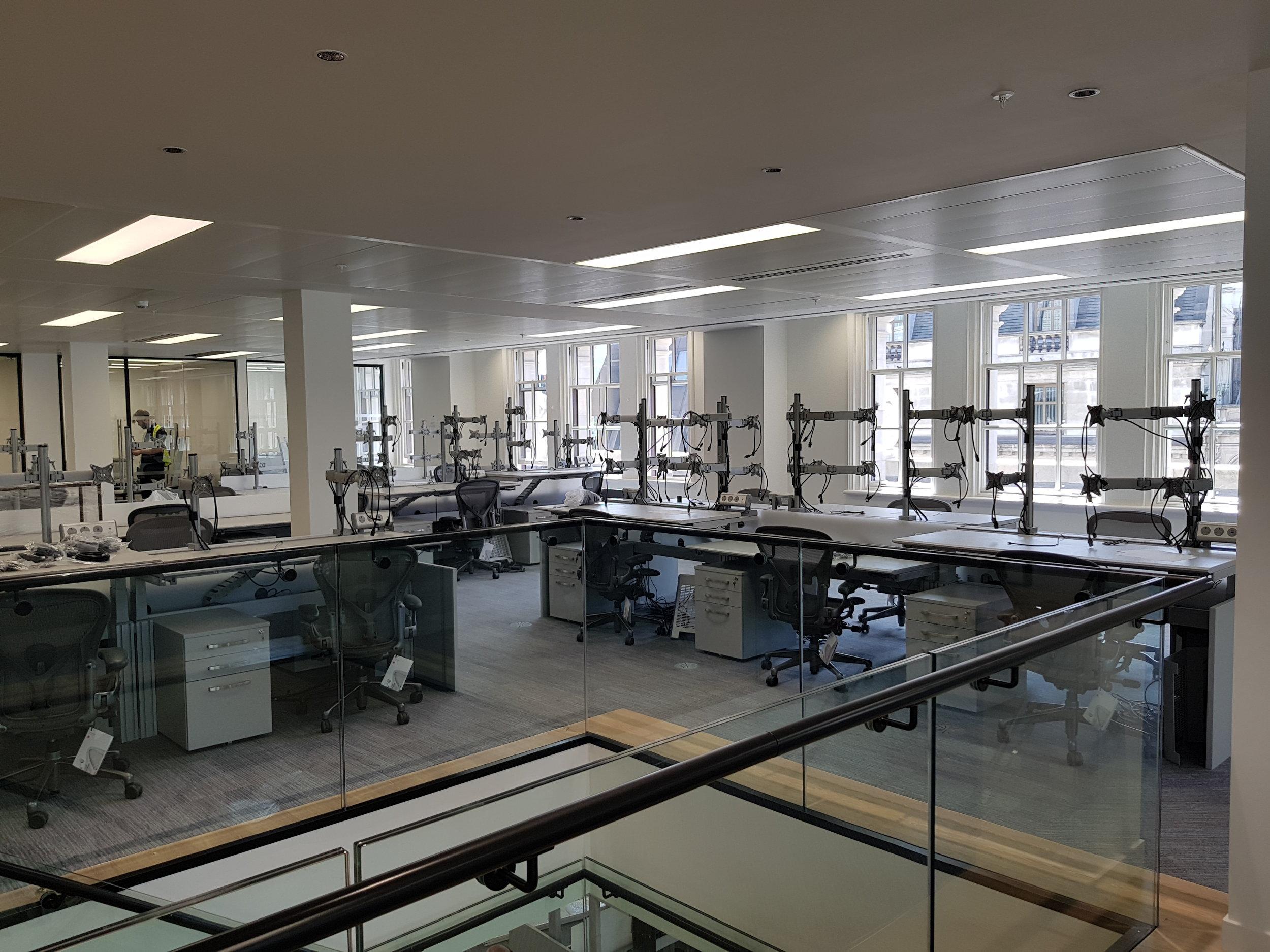 Upper floor Trading Desks
