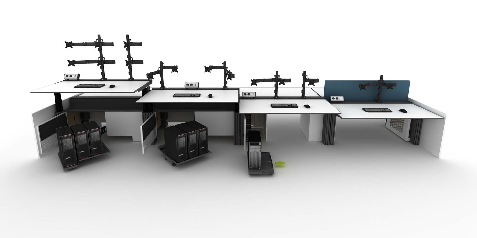 Height Adjustable Trader Desk Design Options