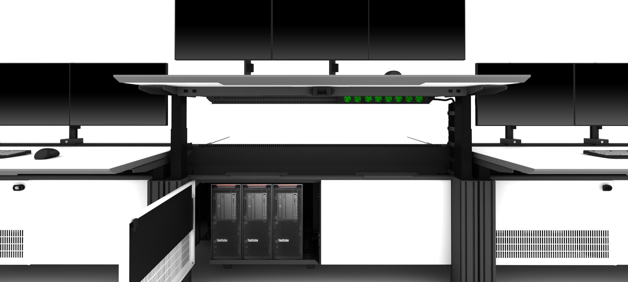 Dealer Desk Furniture Optimised For Cable Management