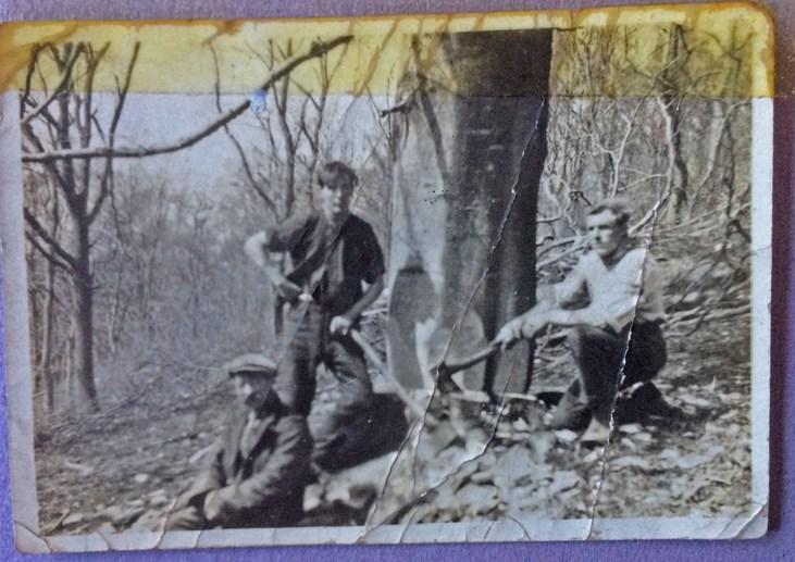 Felling team, Glentress, 1925