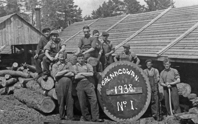 Balnagowan Sawmill, 1937