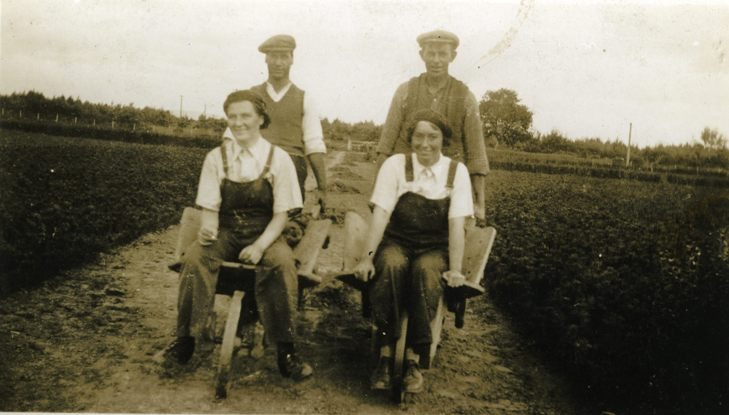 Findhorn nursery workers, 1940