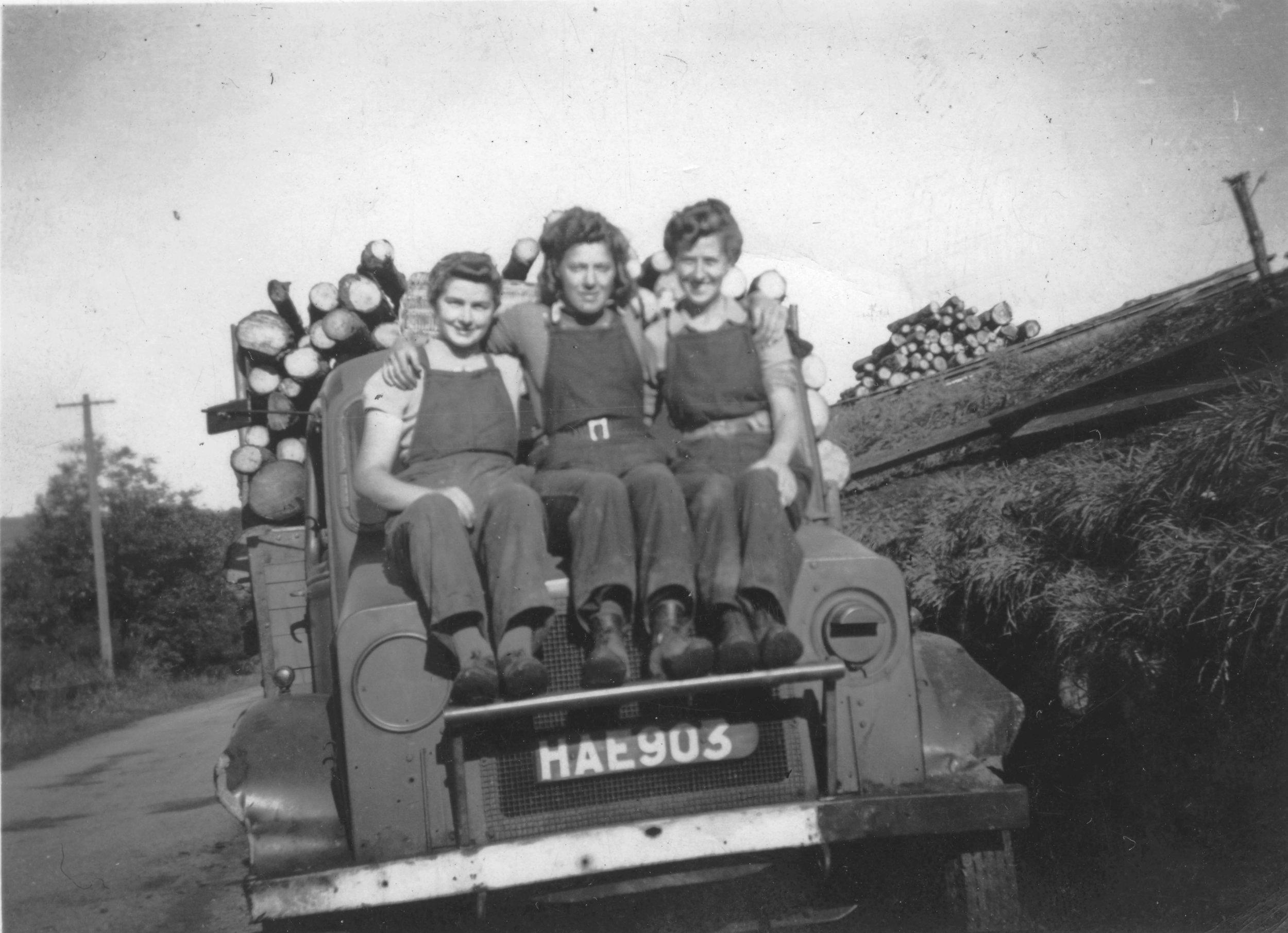 3 Lumberjills, c. 1942