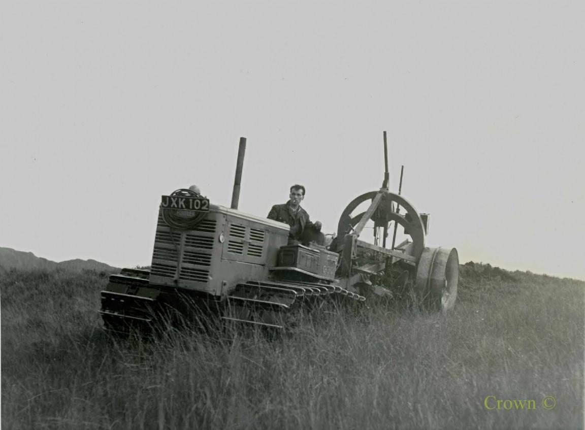 Fowler FT3 tractor & Cuthbertson plough, Loch Ard, 1949