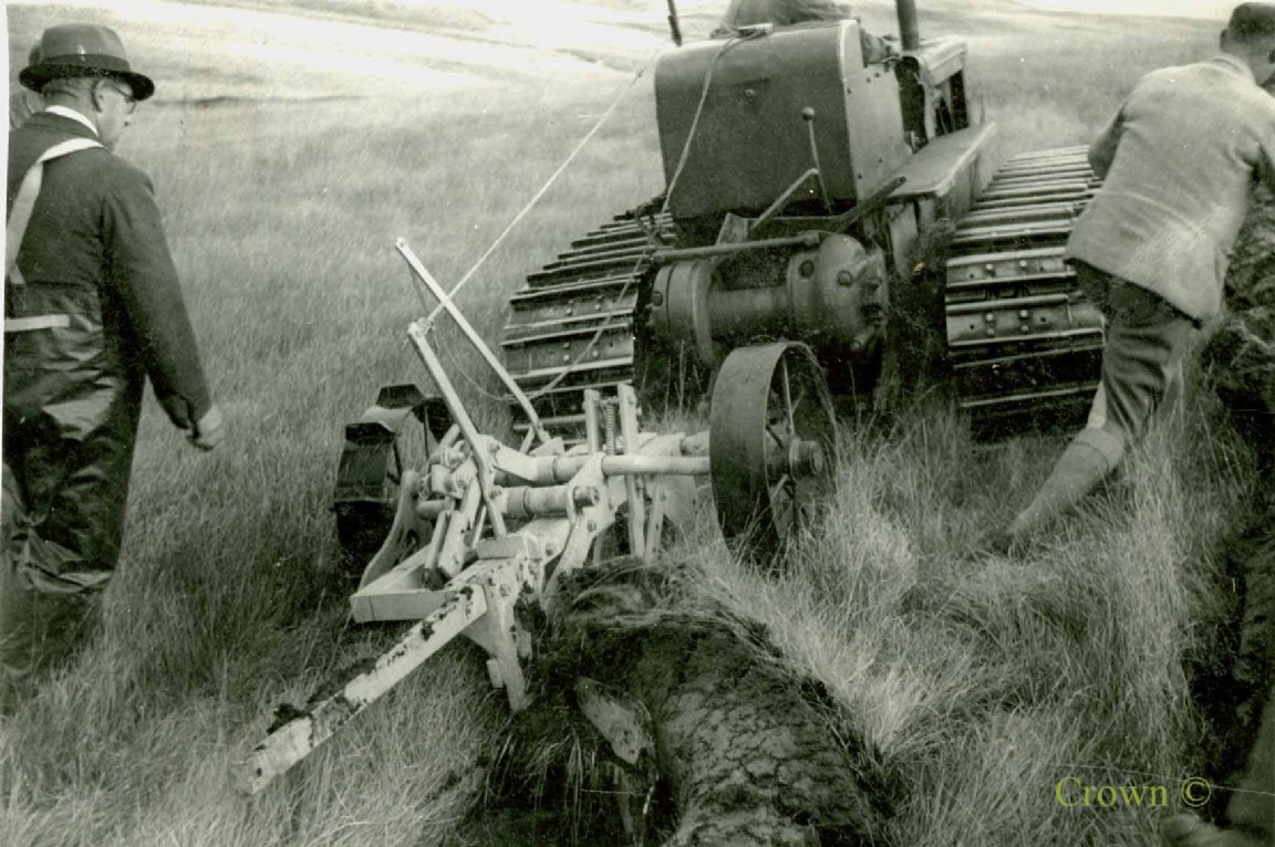 Begg Plough and Tractor, Craik Forest, 1949