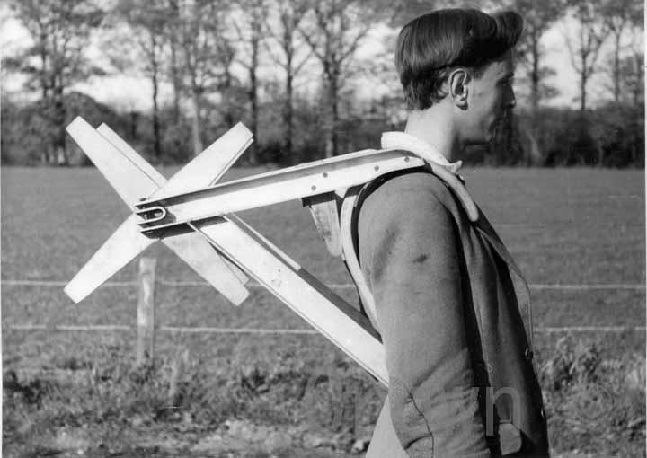 Fire hose prototype, 1950