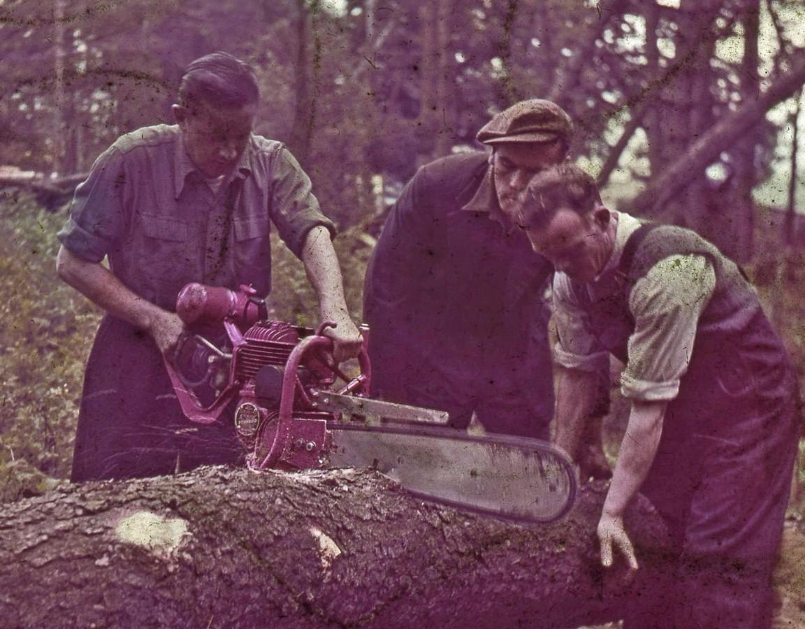 Danarm power saw, 1954