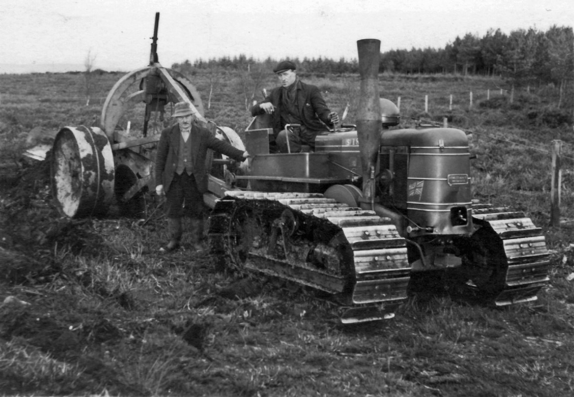 Fowler tractor, 1954
