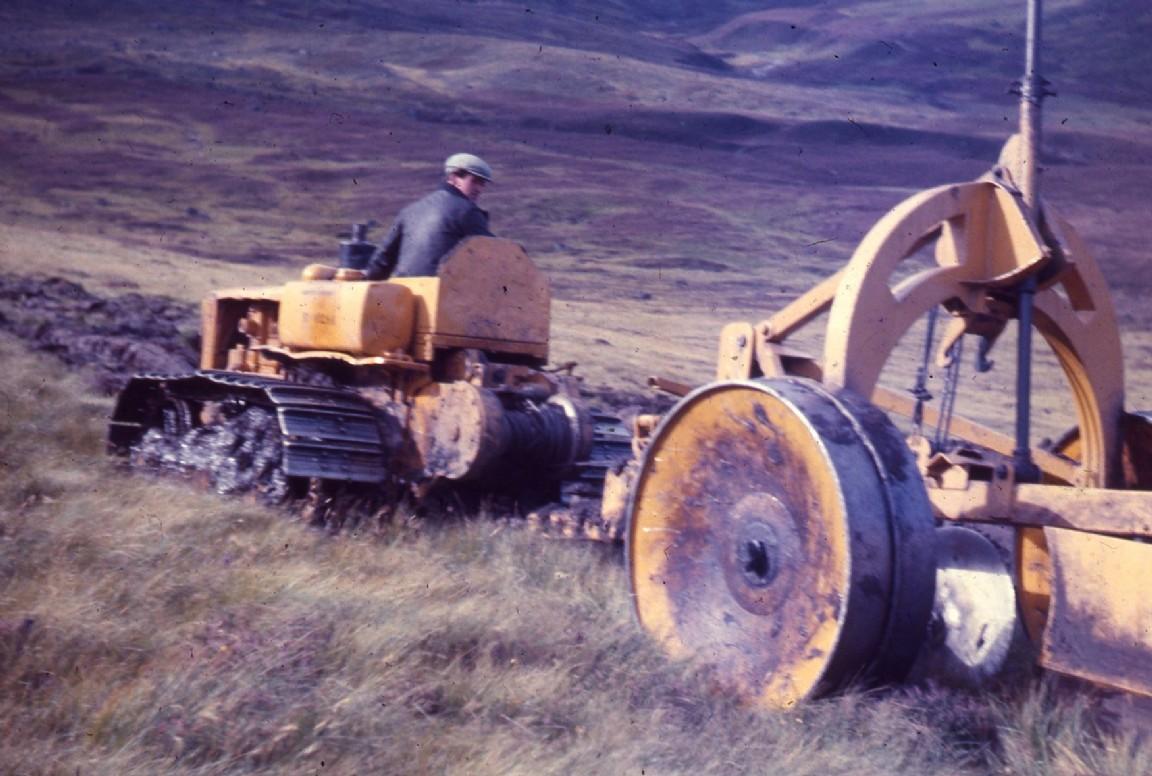 Caterpillar tractor, Glen Doll, 1954
