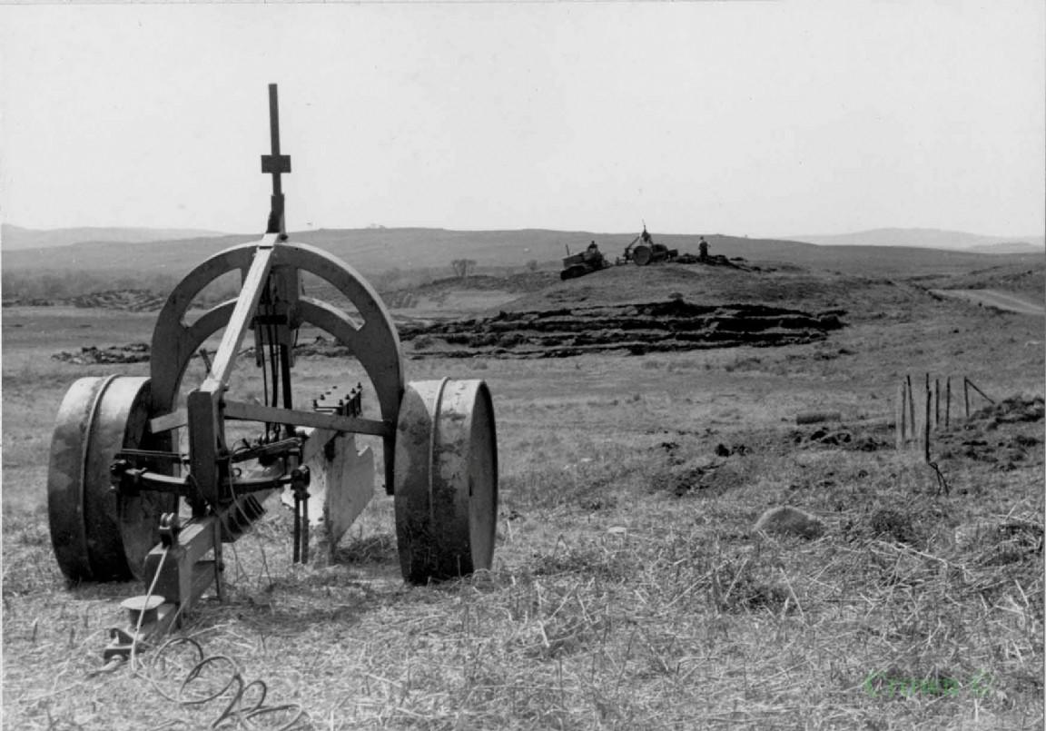 Tine plough, Glentrool, 1954