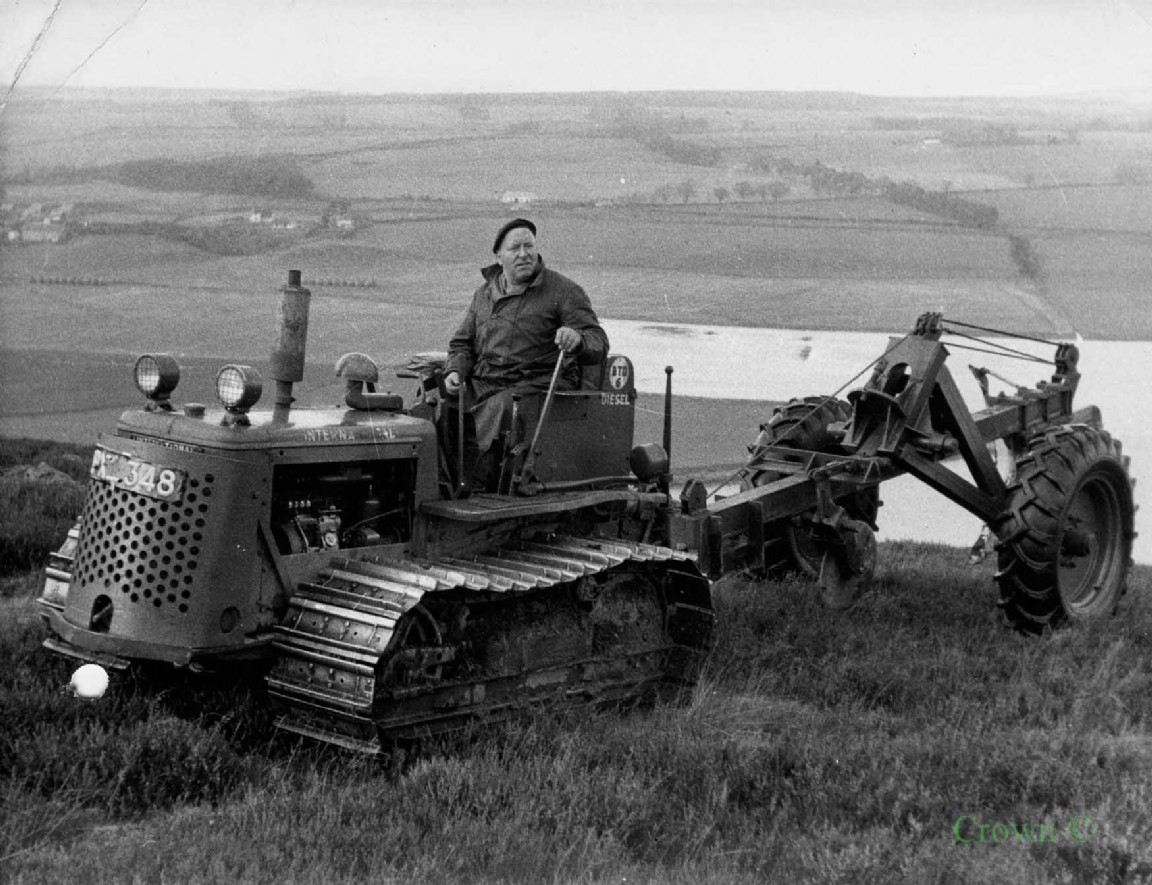 Ploughing at Kessock Forest, 1956