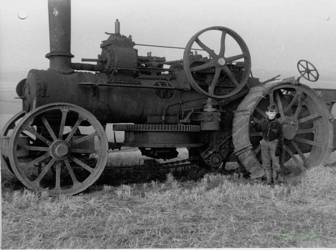 Steam traction engine, 1956