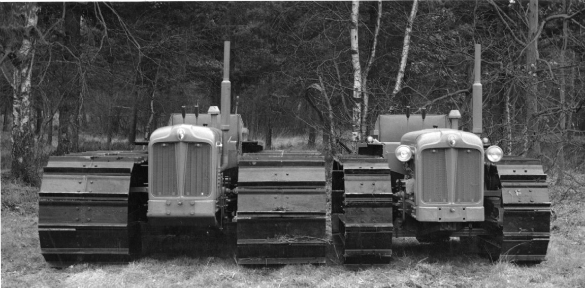 Two 'Bogmaster' tractors, 1958