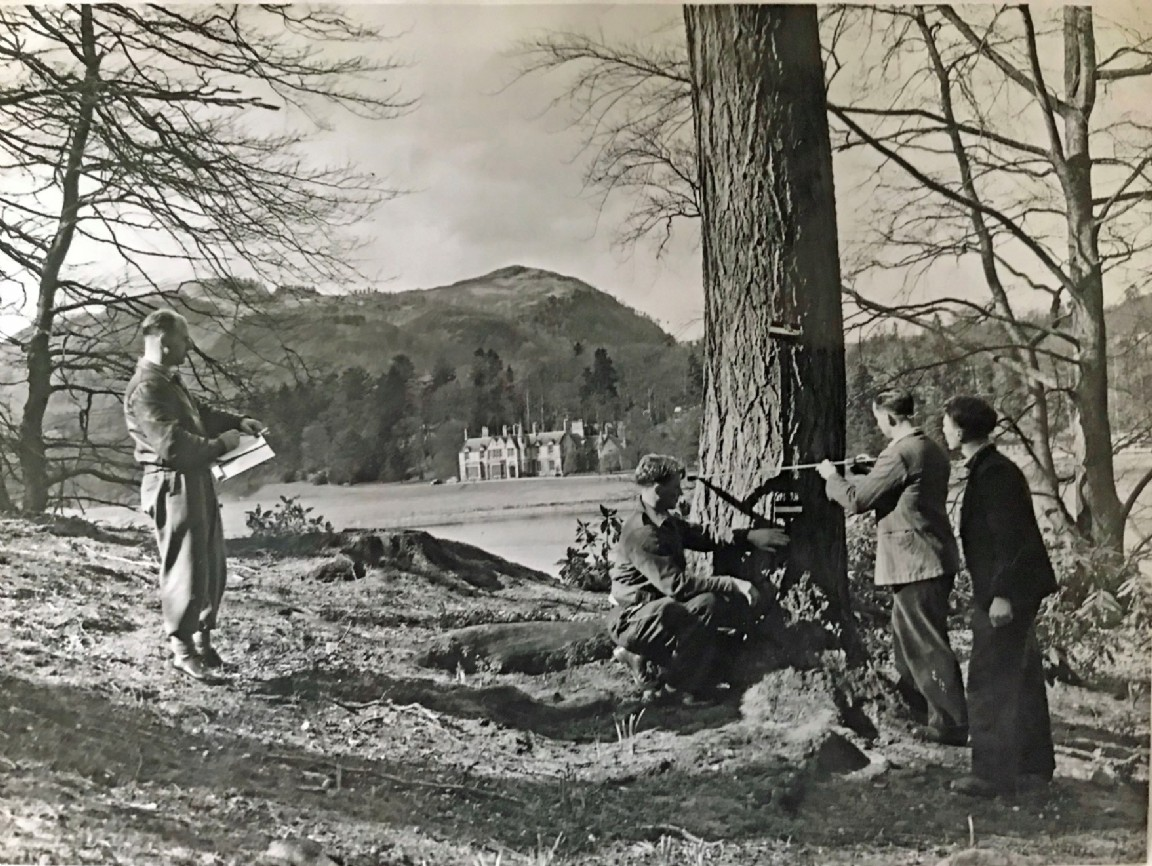 Forestry students, Faskally, 1954
