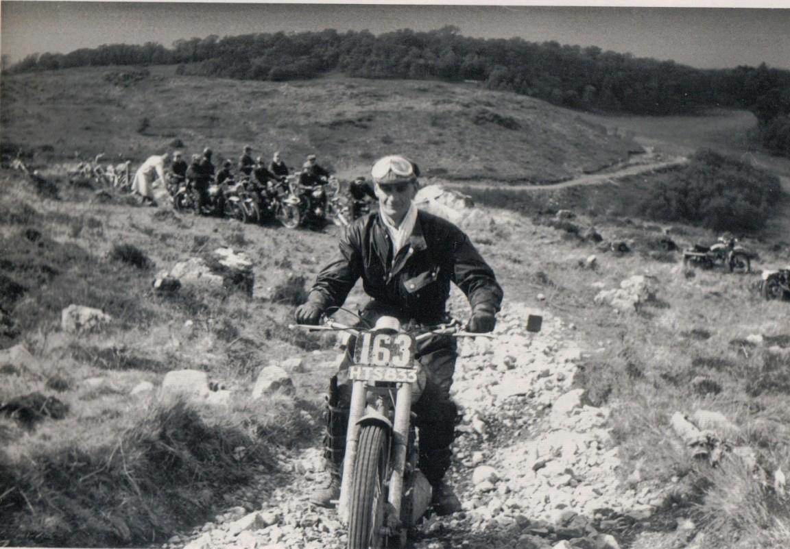Motorbike trial, 1958