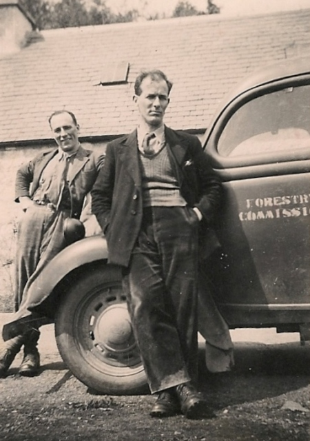 Two foresters, Strathcarron, 1950