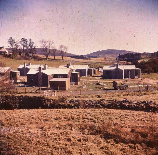 British timber Forestry houses, Glen Isla, 1952