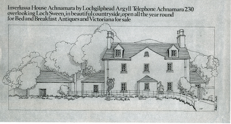 Artists' impression of one of the bigger houses at Achnamara
