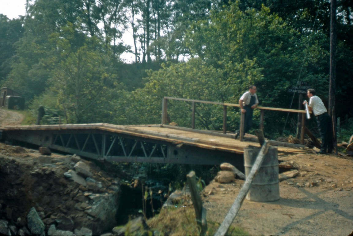 Bridge building at Pitfichie, 1966