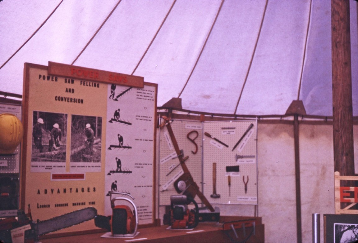 Forestry Commission stall at the Nairn Show, 1967