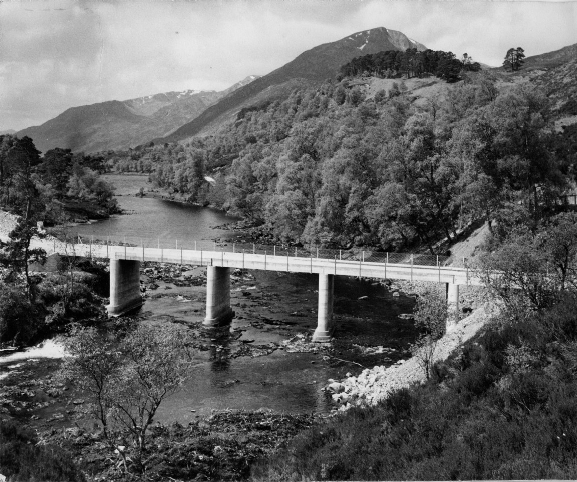Forestry Commission bridge at Glen Affric, 1960