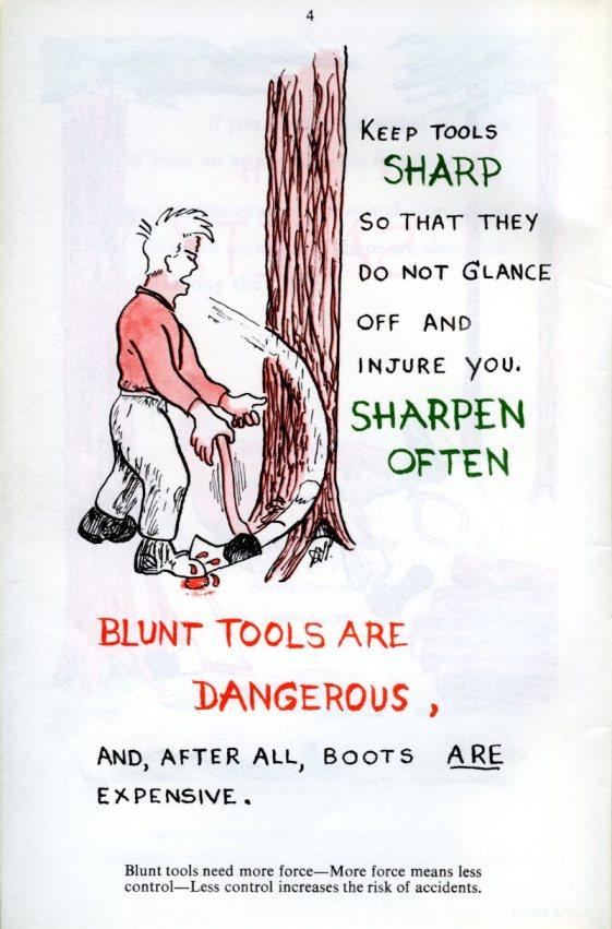 Safety leaflet, 1970