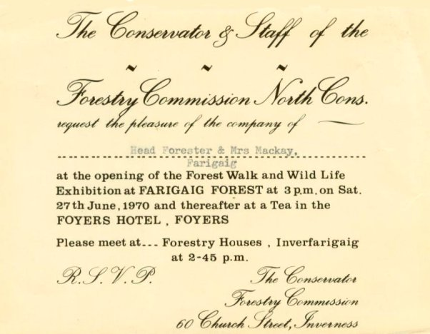 Invitation to Forest Walk opening, 1970