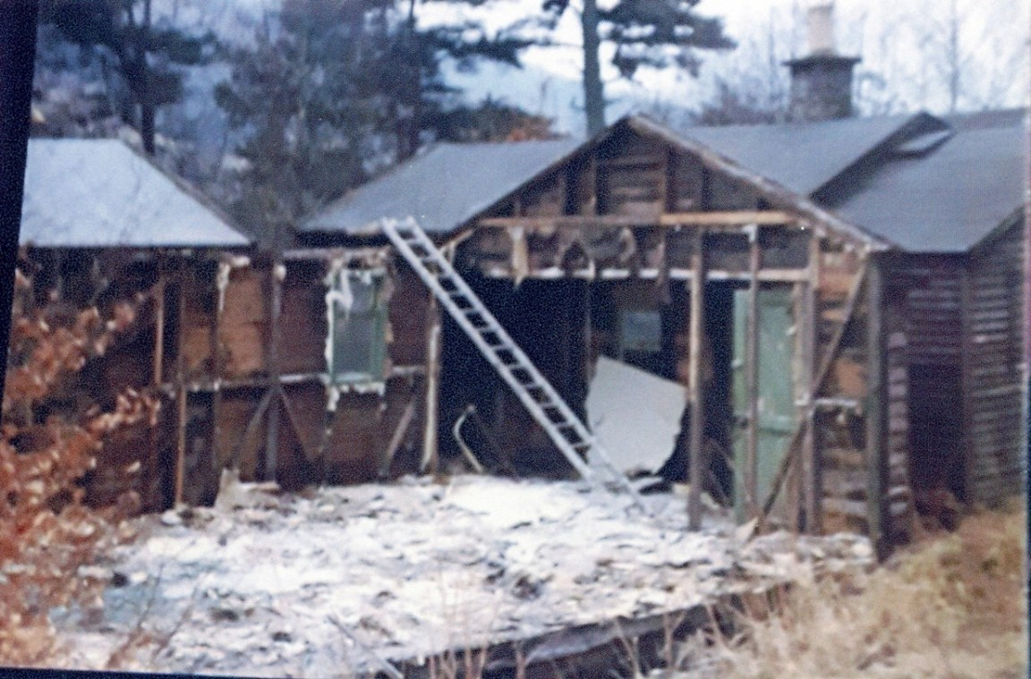 Forestry Commission bothy, Strathyre, 1970