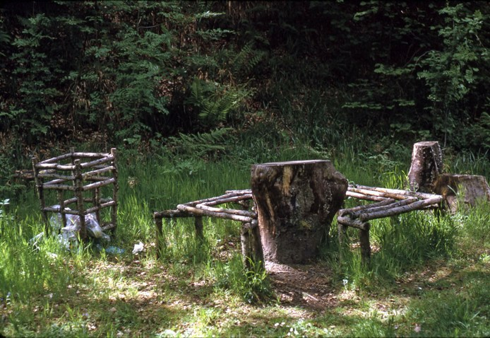Early 'forest furniture', 1974