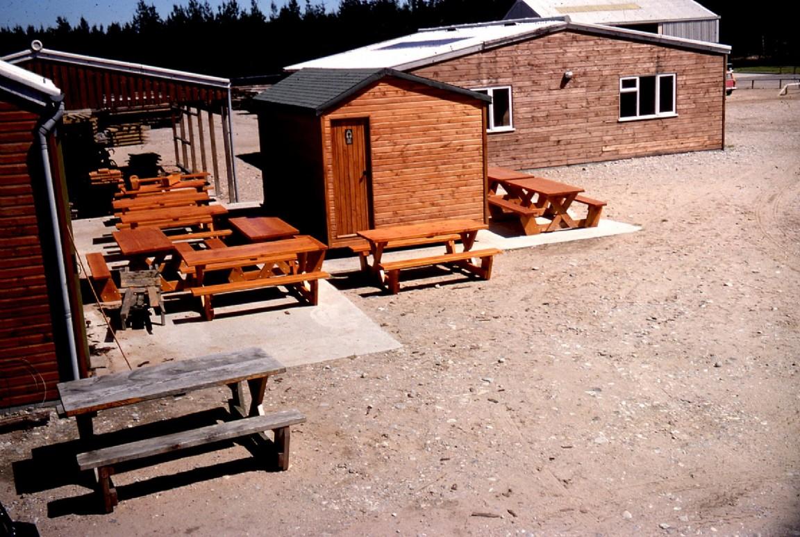 Workshop yard at Balnacoul, 1976