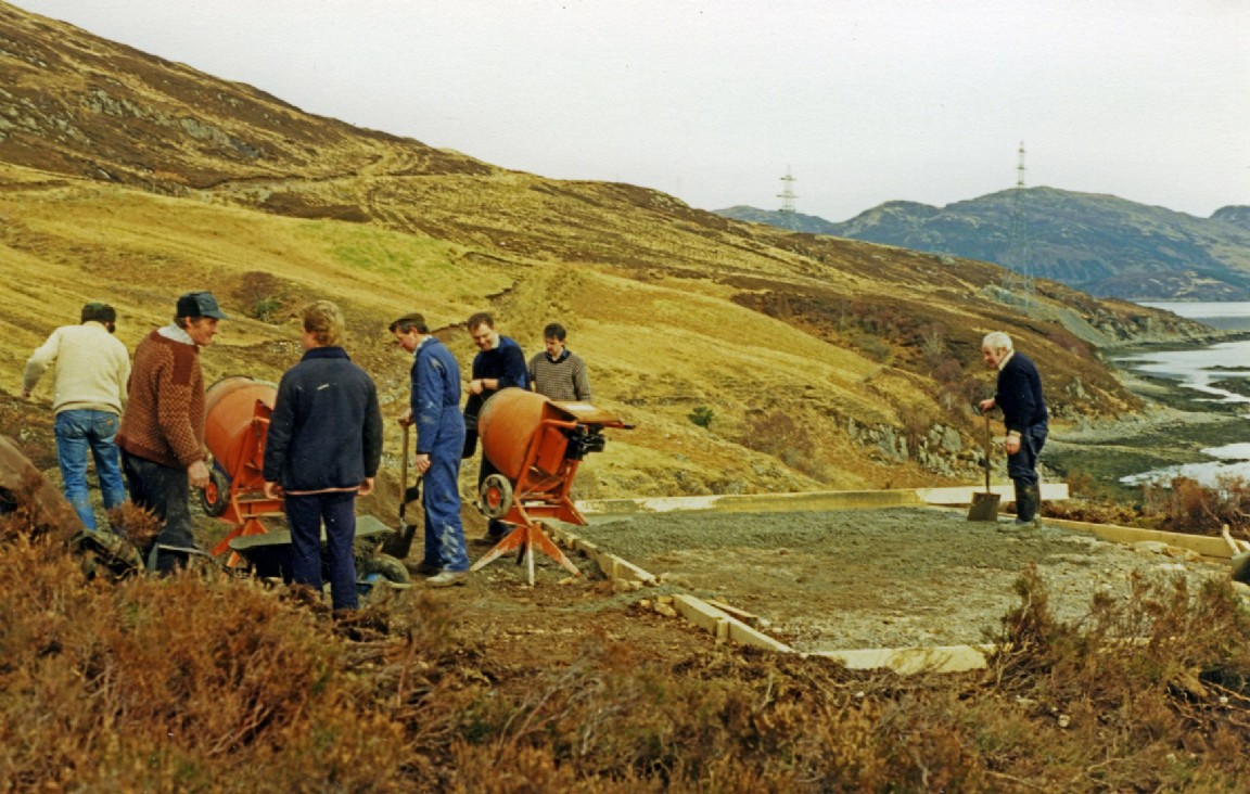 Site survey for future otter haven at Kylerhea, 1984