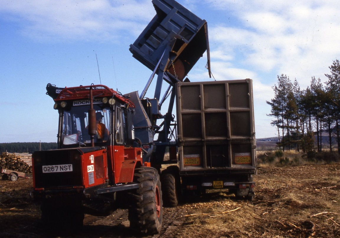 Mobile chipper and bin, 1986