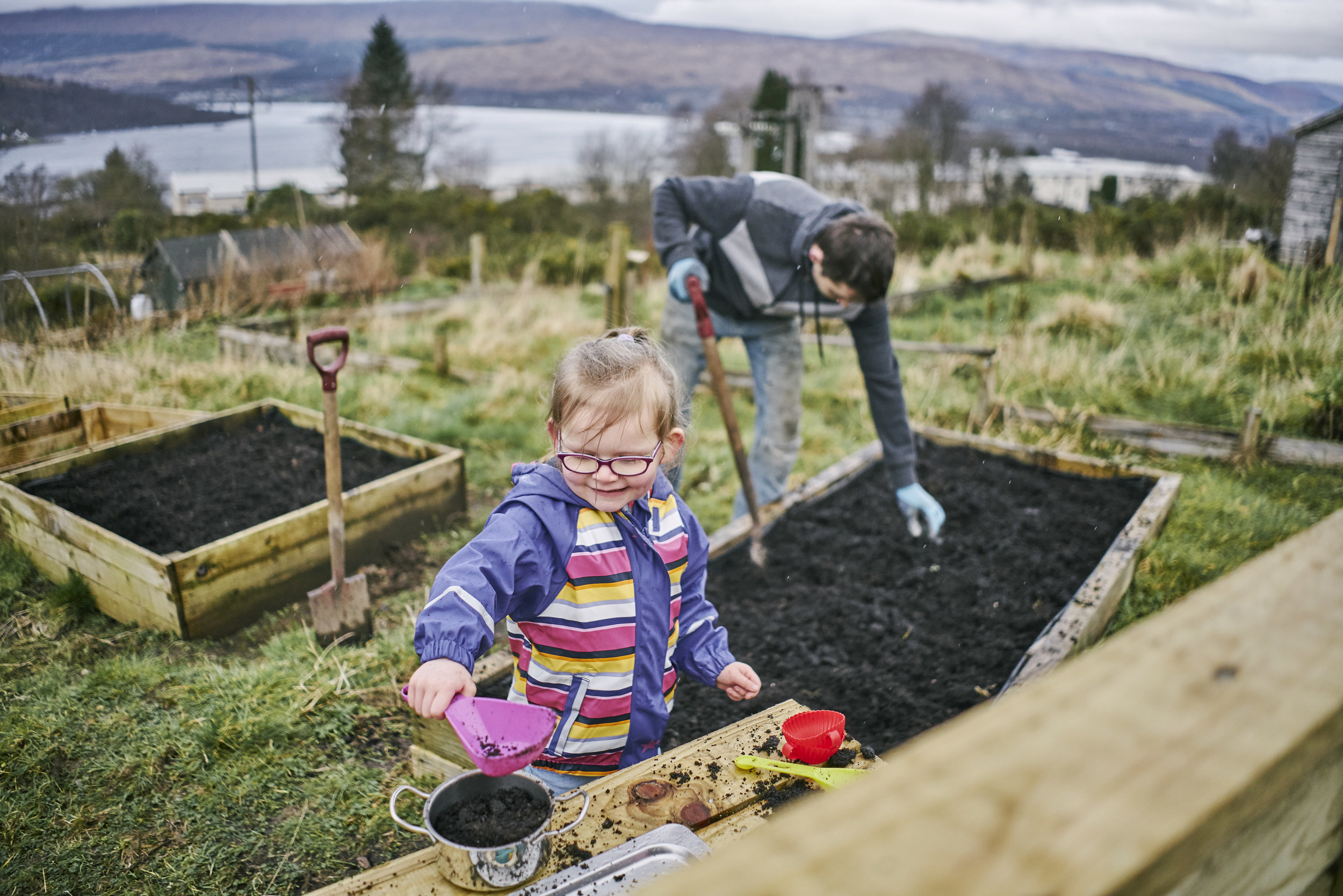The allotments at Cow Hill in Fort William are a great example of a project co-managed by FLS and the local community.