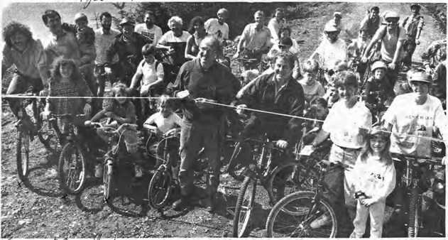 Opening of the Great Glen Cycle Way, 1992