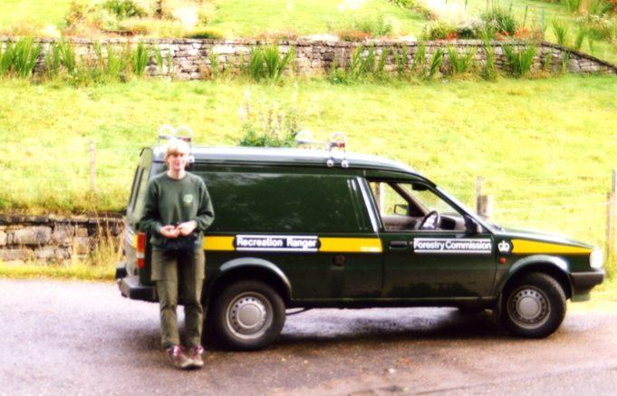Recreation Ranger with FC van, Cannich, 1993