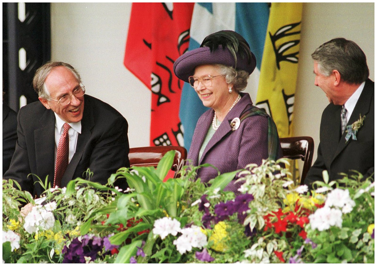The Queen attends the opening of the Scottish Parliament in Edinburgh, 1999. Image:    Wikimedia