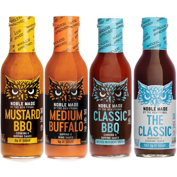 My family's personal favorites? The classic BBQ, Medium and Mild Buffalo, and the Mustard BBQ! Not sure which one to try first? We can't keep the Classic BBQ around so if you want to start there, it's a good one!
