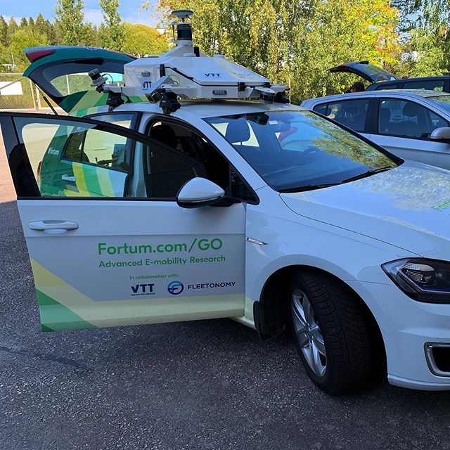 A visit to VTT at Tampere today to see how our vehicle projects are coming along. #autonomousvehicles #cars #fleetonomy #vtt #fortumgo #tampere #finland #smartcities #helsinki
