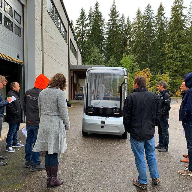 FABULOS demonstration in Tampere for @forumviriumhelsinki #autonomousdriving #remoteoperatedvehicle #fleetonomy #finland #tampere #vtt