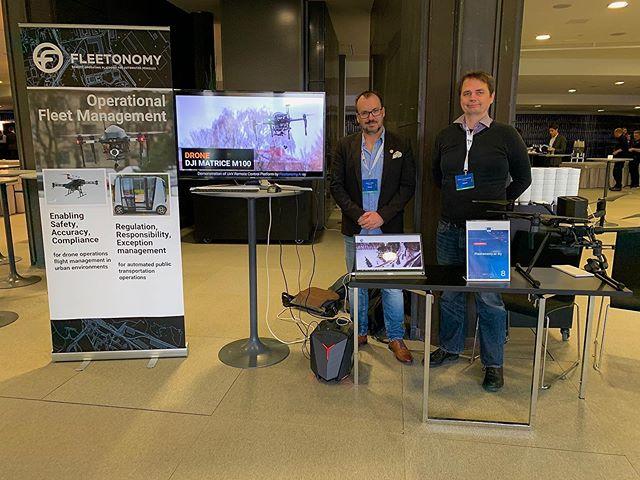 Markus and Stephen are presenting Fleetonomy's projects at #digitaltransportdays event in Helsinki. #eu @soarizonbythales #autonomousdriving #helsinki #finland #remotedriving #fabulos #forumvirium #uav #drones #smartcities #smartmobility