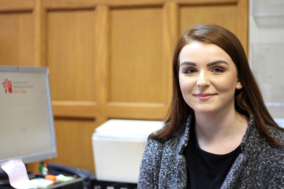 Niamh Gilmartin was a Modern Apprentice within the Human Resources department at Perth College UHI. Upon completion of her MA, she took up a full time role within the HR team as an HR Assistant.