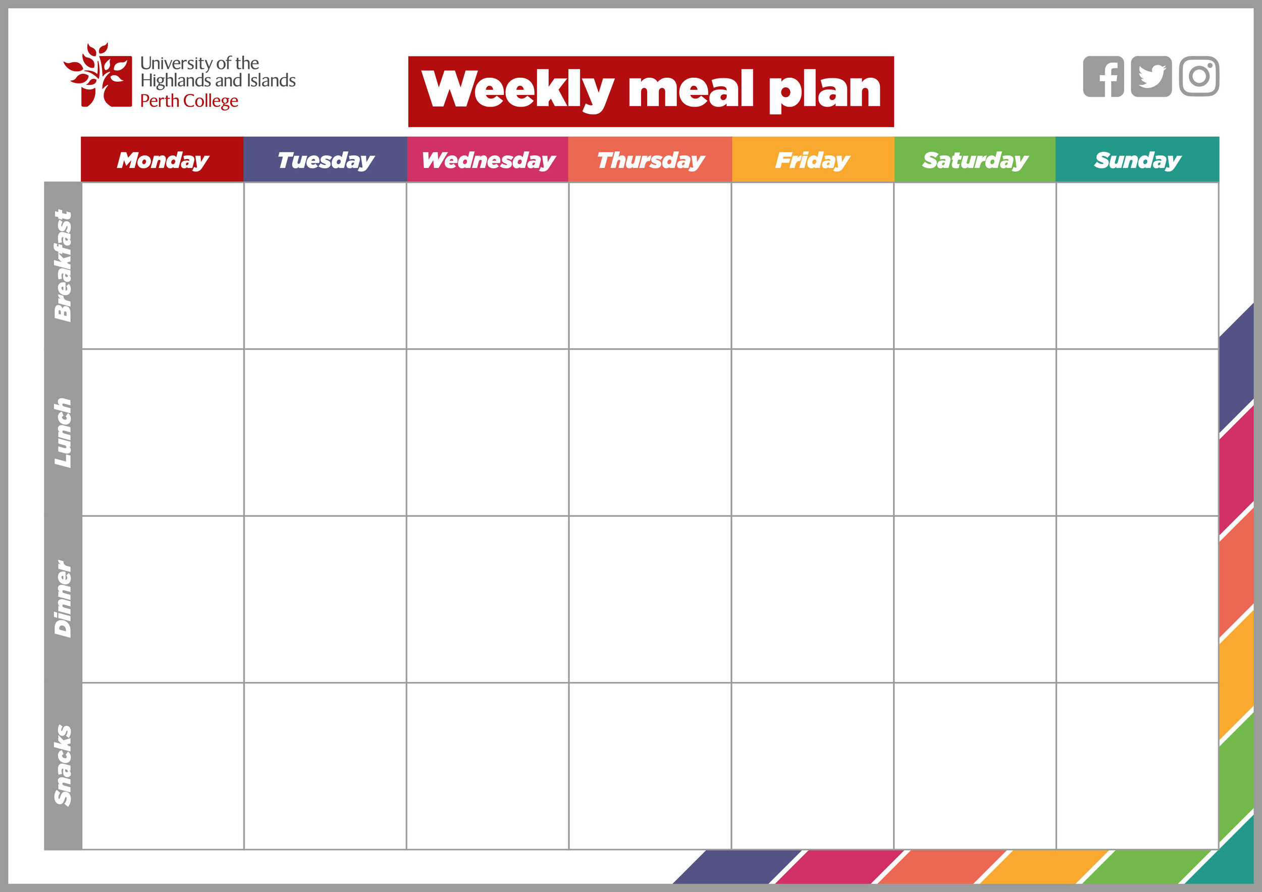 You can   download our printable weekly meal planner     to help avoid wasting food and save those last minute trips to the shop.