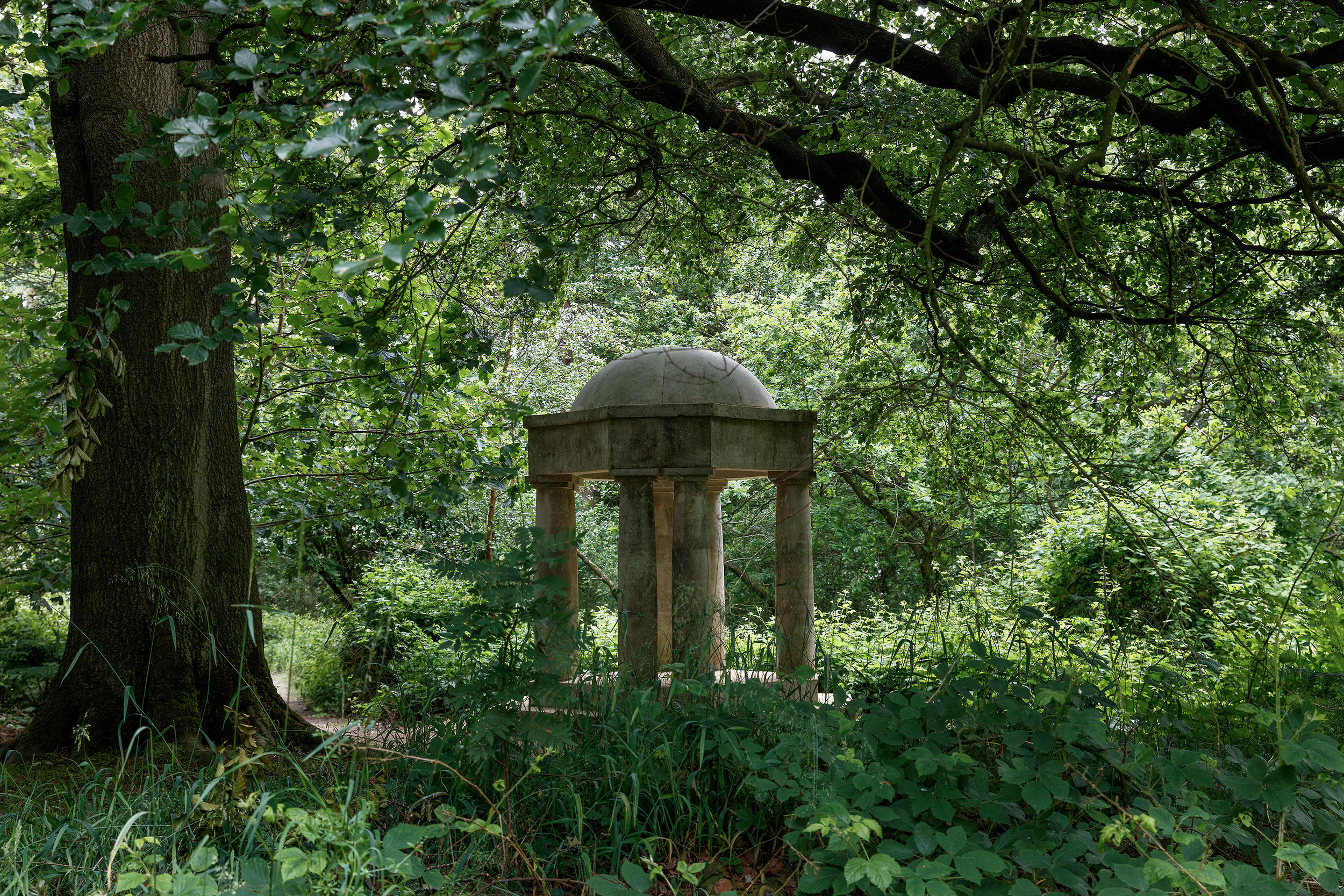 Temple of Apollo  by Ian Hamilton Finlay at Jupiter Artland  © Clare Lou Architectural Photography