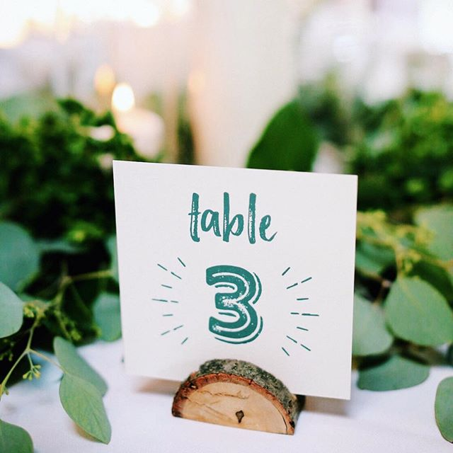 Sure we like invites, but we LOVE applying the design to allll the other little pieces too (like these table numbers) 🌲⛰ | Photo: @clarkwalkerstudio . . . #tablenumbers #weddingdetails #handmade #weddingdecor #rusticwedding #wedding #lakeplacidwedding #weddinginvitation #weddingstationery #realwedding