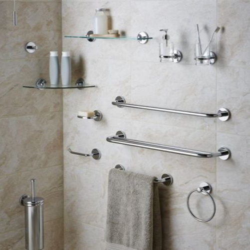Step 3 - Don't forget to accessorize.Pick out your accessories to finish off the space. Options include everything from a seat in your shower to towel rings, and everything in between.