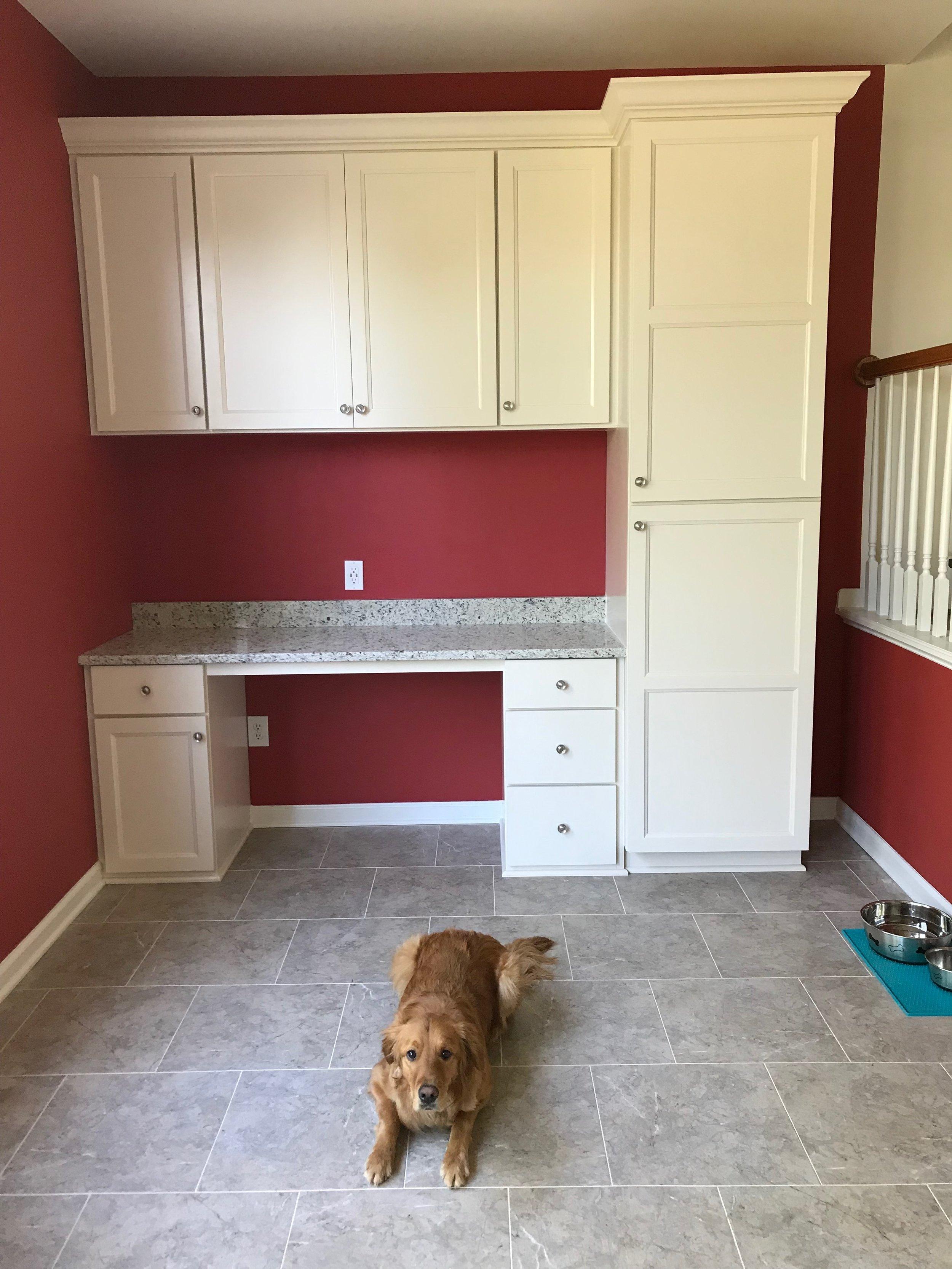 Floor update and study nook