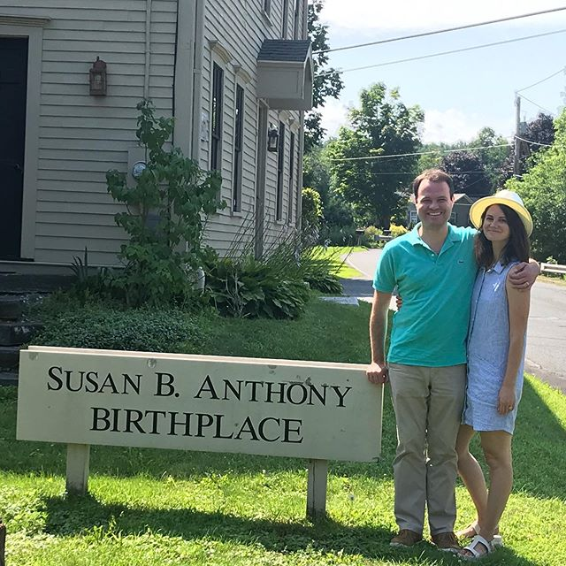"""Last week my sister Rebecca was visiting from California and we stopped by the Susan B. Anthony Birthplace in Adams. This place is a Western Mass gem! Another example of how Western Mass has been out front on the fight for equality for a very long time. A gorgeous and inspiring spot...but no""""Veep"""" sightings 😊"""