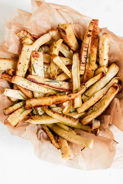 Easy Baked Parsnip Fries - paleo, gluten-free, refined sugar-fee